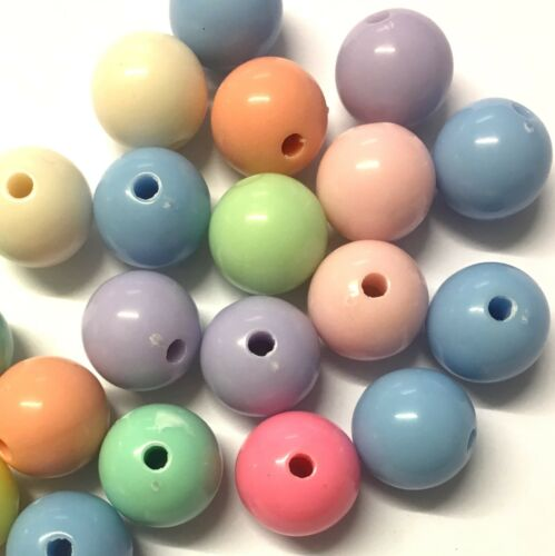 Colores Surtidos 25 X 14mm Funky Pastel Color Chicle granos