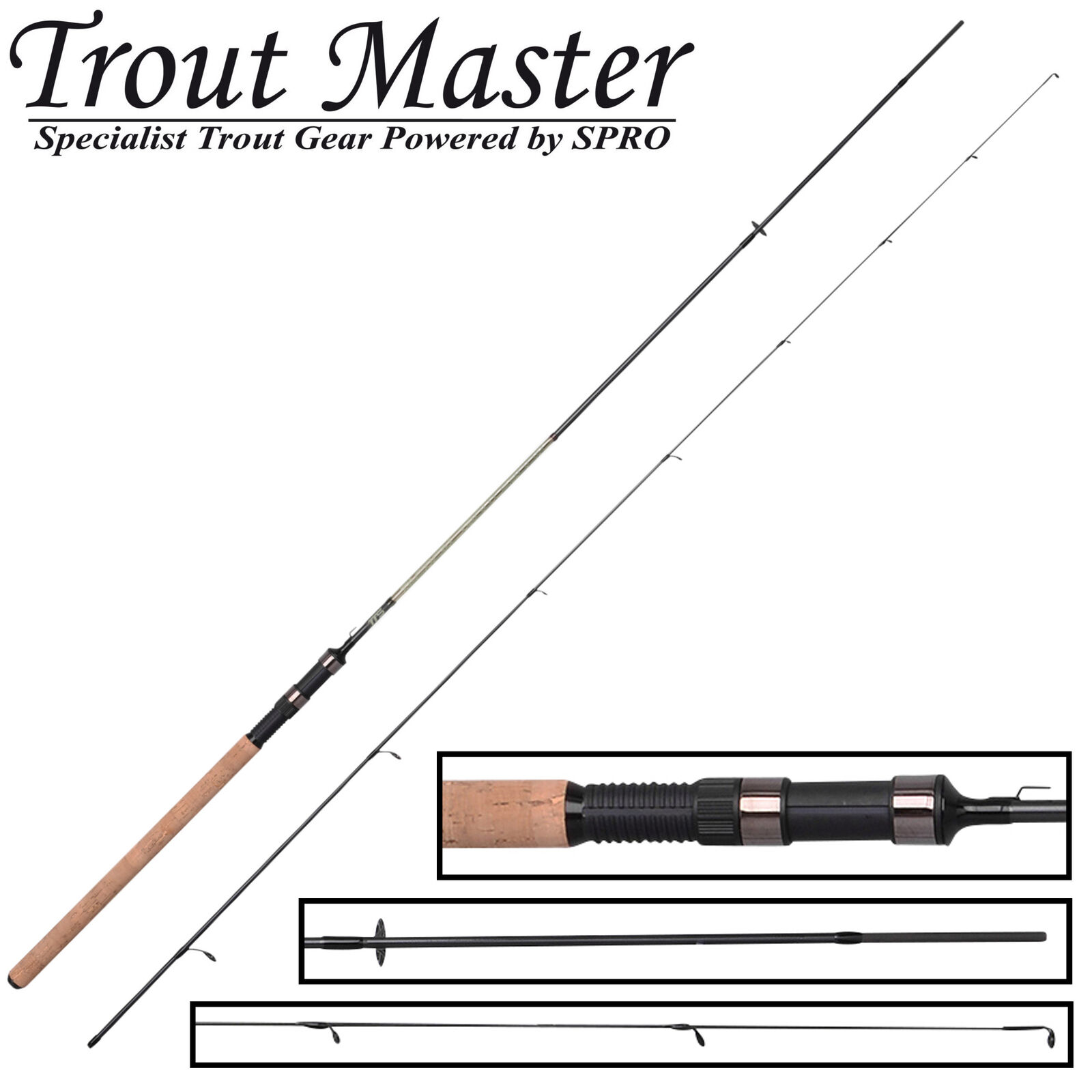 Trout Master Tactical Trout Spoon 2,4m 0,5-4g - Forellenrute, Ultra Light Rute