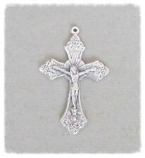 "GRAPE 1.5"" Rosary Crucifix ITALY Cross Rosaries Parts C102 finish SILVER"
