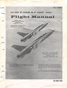 F 105d f 105f flight manual pilots handbook flight operating image is loading f 105d amp f 105f flight manual pilot fandeluxe Image collections