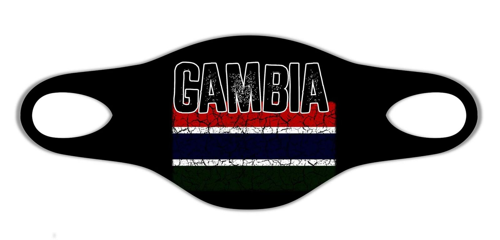 Gambia Patrio Flag Printed Face Mask Protective Reusable Washable Breathable