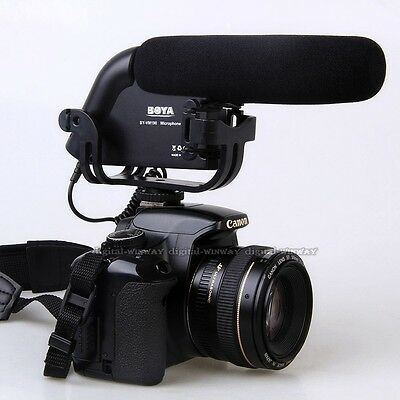 BOYA BY-VM190 Stereo Video Shotgun Microphone for Canon Nikon Camera Camcorder
