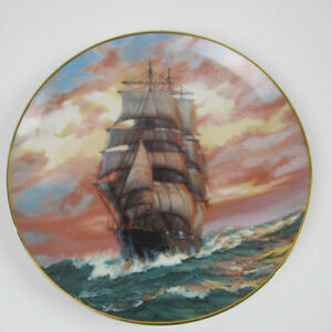 The-Blue-Jacket-at-Sunset-plate-2nd-in-The-Golden-Age-of-the-Clipper-Ships