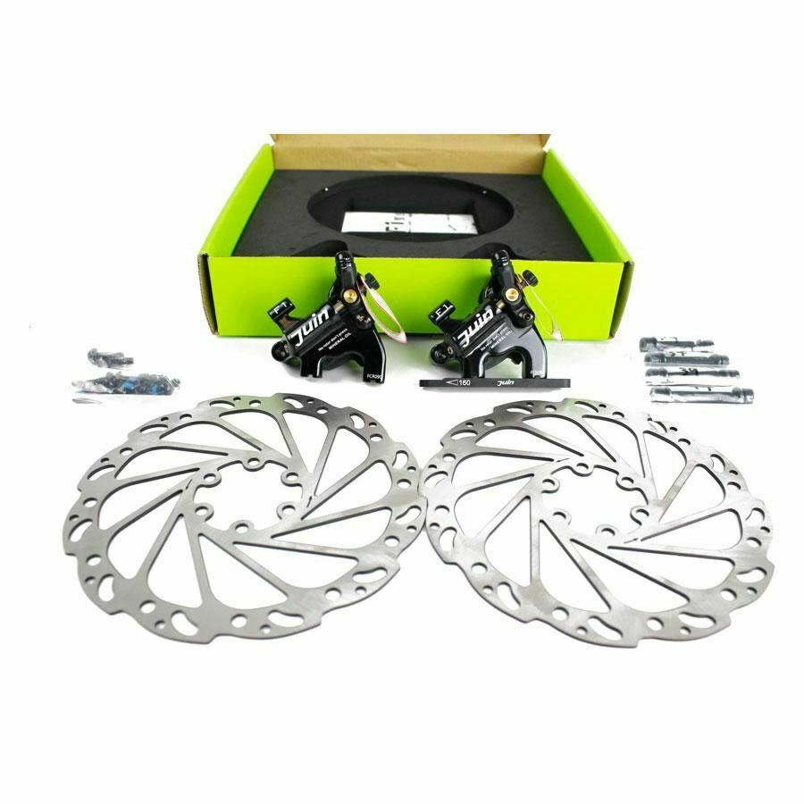 Juin Tech  F1 Hydraulic Cable Pull Disc Brake Set - Flat mount - Cyclocross Road  on sale 70% off