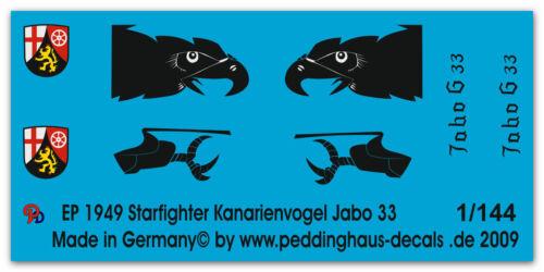 Peddinghaus 1949 1//144 F 104 G Starfighter Kanarienvogel letzter Flug Jabo 33 30