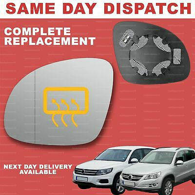 Left Passenger side Wing door mirror glass for VW Tiguan 2007-2016 stick on
