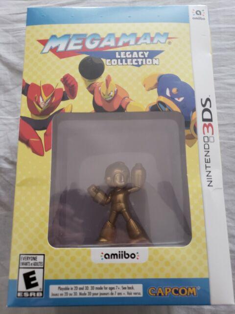 Mega Man Legacy Collection: Collector's Edition Nintendo 3DS With Gold amiibo
