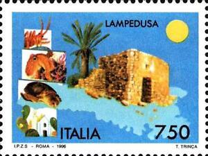 ITALIA-ITALY-1996-LAMPEDUSA-Sicilia-Isola-Island-Tourism-Stamp-MNH