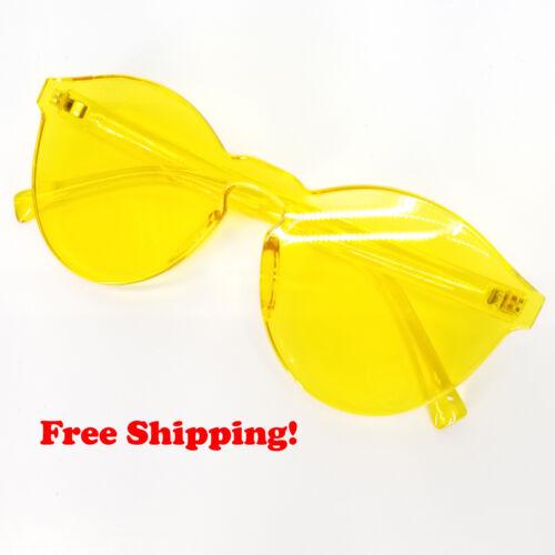 Trendy Vintage Rimless Frameless Round Cat Eye Fashion Sunglasses Clear Glasses