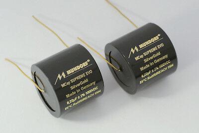1 Pair 0,15uF-1000V Mundorf MCap Supreme EVO ALU film capacitor New Version