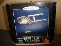 Hallmark Star Trek 30 Years Set Of 2 Ornaments With Display Base Voice Magic