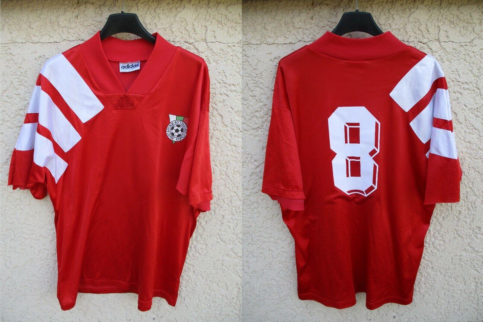 Maillot BULGARIE BULGARIA vintage 1993 ADIDAS trikot shirt camiseta STOITCHKOV L