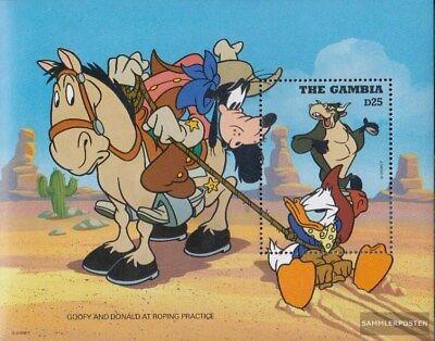 completa Edición Learned Gambia Bloque 272 Nuevo Con Goma Original 1995 Walt-disney-pe