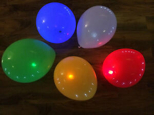 LED-BALLOONS-x-5-WEDDING-HEN-PARTY-DECORATION-FREE-POST