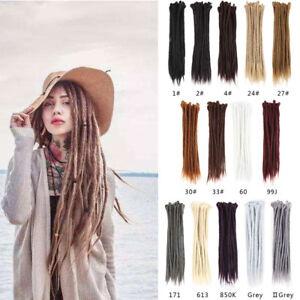 20-034-50cm-Dreadlocks-Hair-Extensions-Single-Ended-Synthetic-Crochet-Dreads-Braids