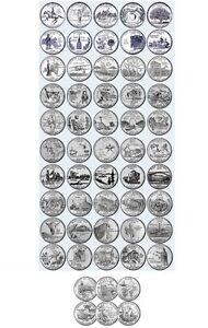 56 Pz Quarti Dollaro 1/4 1999-2009 50 + 6 Serie Stati Federali Quarter Dollar Acr3ansi-07233546-219808049