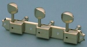 NICKEL Keystone Buttons 15:1 NEW 3x3 Vintage Deluxe Style Tuning Keys