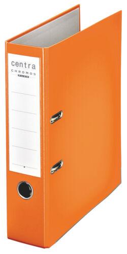 breit mit Schlitzen orange Centra Pappordner 23... A4 Ordner Plastik Chromos