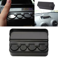 Car Interior Coin Case Auto Storage Box Holder Container Organizer Black