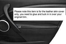 Negro Stitch 2x Frontal Puerta Apoyabrazos Skin Tapa se ajusta Renault Megane Mk3 08-13 Philippines