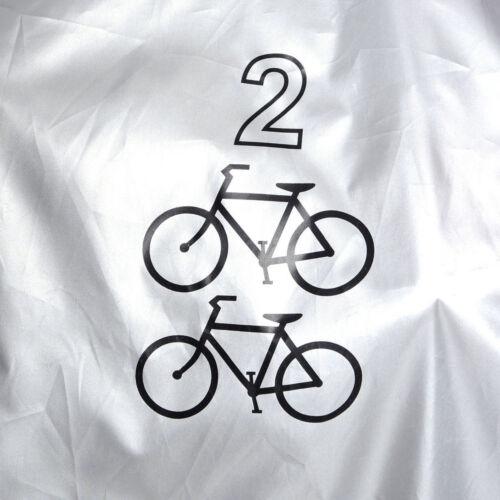 Duo Mountain Road Bikes Vélo Couvercle étanche hors de stockage de Pluie Poussière UV Resist