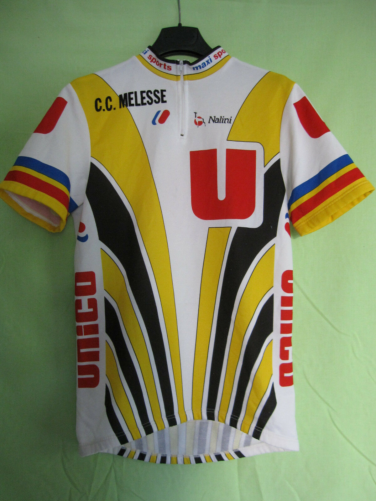 Maillot Cycliste vintage Systeme U Unico Nalini CC Melesse 80'S jersey - 4