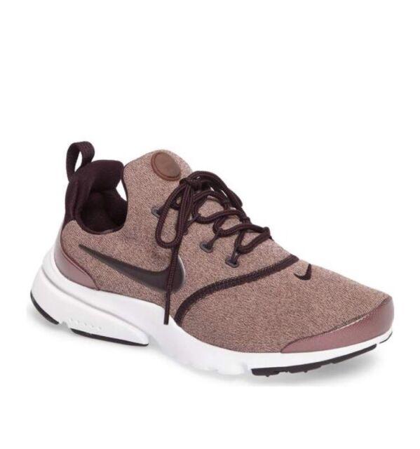 low priced a7886 ece57 NEW NWOB Nike Presto Fly SE Shoes Port Wine Pink Black Mahogany 8 Metallic  RARE