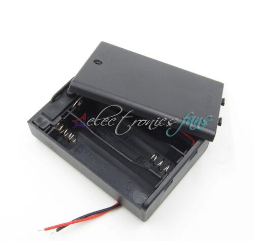 10PCS Plastic Battery Storage Case Box Holder Für 3 X AA 3xAA 4.5V wire leads