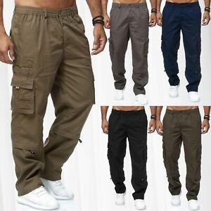 Hommes-Cargo-Pantalon-2-in-1-Zip-Off-Trekking-3-4-Loisirs-glissement-Short-Outdoor