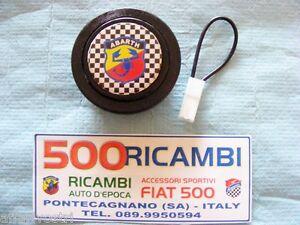 FIAT-500-F-L-R-126-PULSANTE-CLACSON-VOLANTE-AUTO-SPORTIVO-COMPLETO-LOGO-ABARTH