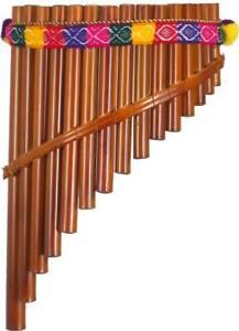 Péruvien 15 Note Panpipe. Traditionnel Style Courbé Bambou Pipes. De Hobgoblin