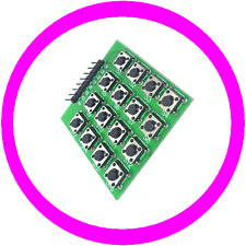 4x4 Matrix 16 Quadrat Keypad Keyboard Panel Modul 16 Buttons Mcu Für Arduino