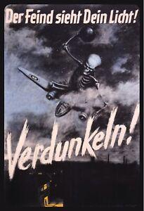 Der-Feind-sieht-Dein-Licht-2-Weltkrieg-Blechschild-Schild-Tin-Sign-20-x-30-cm