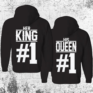 HER KING #1 HIS QUEEN #1 Hoodie SET Pullover Pulli Pärchen Couple Paar Partner