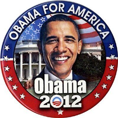 2012 Barack Obama FOR AMERICA Campaign Button (4609)