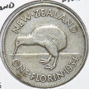 New Zealand 1934 Florin Kiwi Bird animal 192537 combine shipping