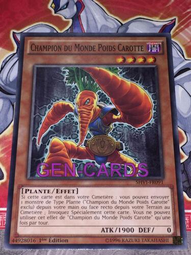 Carte Yu Gi Oh CHAMPION DU MONDE POIDS CAROTTE SHVI-FR091 x 3