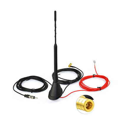25cm Car Roof Radio FM//AM Signal Antenna Din Male Plug Magnetic Base 3M Cable