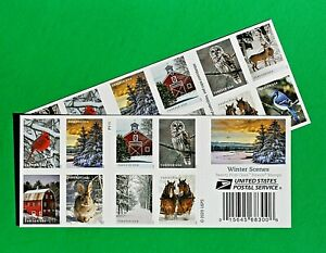 Winter Scene (Christmas) Stamps - 40 Forever Stamps at BELOW FACE VALUE!
