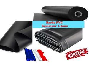 Bache pvc noir paisseur tang piscine bassin for Prix bache pvc pour bassin