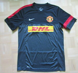 9021f9450 Image is loading MANCHESTER-UNITED-training-jersey-shirt-NIKE-2012-2013-