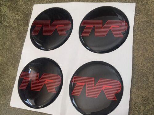 TVR-distintivi in resina di qualità 42 mm Nero//Rosso Lettering BD8-D2-G