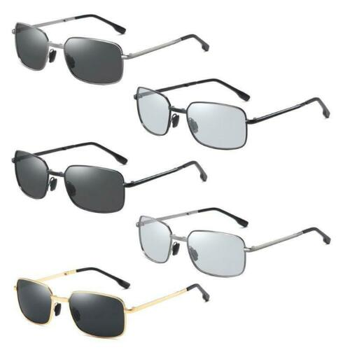 Men Photochromic Foldable Sunglasses with Polarized Lens Metal Frame Protection
