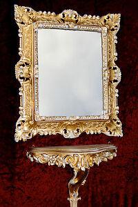 Muebles Antiguos Y Decoración Espejo De Pared Antiguo Ovalado Oro Blanco Baño 51x37 Shabby Barroca C496 Espejos