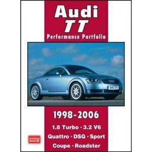audi tt performance portfolio 1998 2006 book paper car ebay rh ebay co uk audi tt service manual book Audi TT Service Manual