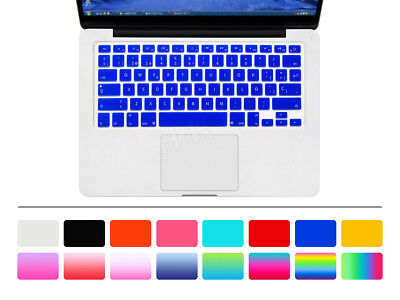 MacBook Air // Pro // Retina 13 15 17 AMARILLO Teclado Espa/ñol QWERTY De Silicona Protector Flexible Cubierta