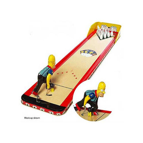 The Simpson Barney's Bowl-A-Rama Bowling Bowling Bowling Game Simpsons Memorabilia Collectors f66