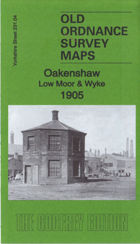OLD ORDNANCE SURVEY MAP OAKENSHAW LOW MOOR /& WYKE 1905 BRADFORD SALT HORN
