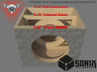 Stage 2 - Sealed Subwoofer Mdf Enclosure For Re Audio Xxx V2 15 Sub Box