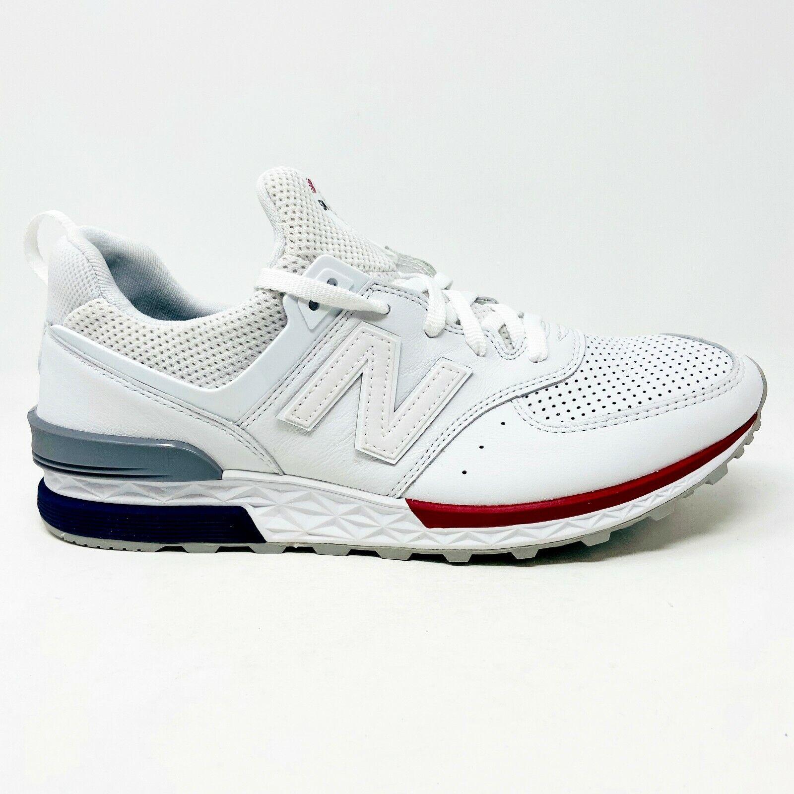 New Balance 574 Sport White Red Mens